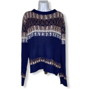Northern Angle Large sweater navy and cream
